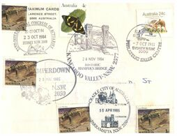 (M 12) Australia - 1980's - (cover With Many Stamp And Postmark) Thylacine - Lace Monitor - Butterfly - Brieven En Documenten