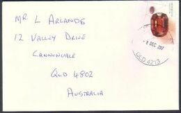 Australia Cover -  Rhodonite Gem Stone Affixed To The Stamp - Unusual - Minerales