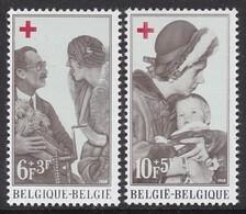 PAIRE NEUVE DE BELGIQUE - ELISABETH ET FABIOLA (CROIX-ROUGE 1968) N° Y&T 1454/1455 - Familias Reales