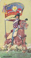 Chromos Persil - Les Porte-Drapeau De Napoléon - 2° Hussard 1802 - Texte Au Dos - Chromo