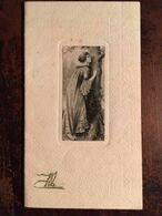 "Menu Dîner Du 6 Octobre 1915, DENJEAN ""Hôtel De L'Europe"", Illustration Femme Contre Tronc D'arbre (14,5 X 8,3) - Menus"