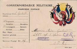 Carte De Correspondance Militaire - 15 Juillet 1917 - 163ème Pour 278 ème Régiment D'Infanterie - SP N°107 & 86 - Marcofilie (Brieven)
