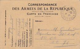 Carte De Correspondance Des Armées - 31 Juillet 1917 - 163ème Pour 36ème Régiment D'Infanterie - SP N°107 & 76 - Marcofilie (Brieven)