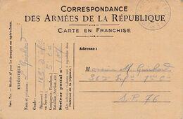 Carte De Correspondance Des Armées - 3 Août 1917 - 163ème Pour 36ème Régiment D'Infanterie - SP N°107 & 76 - Marcofilie (Brieven)