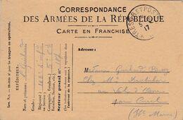 Carte De Correspondance Des Armées - Pour Val D'Osne (52) - 3 Août 1917 - 163ème Régiment D'Infanterie - SP N°107 - Marcofilie (Brieven)