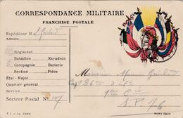 Carte De Correspondance Militaire - 6 Août 1917 - 163ème Pour 36ème Régiment D'Infanterie - SP N°107 & 76 - Marcofilie (Brieven)