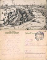 Anseghem Anzegem Künstlerkarten - Militär V.  Schützengraben In Flandern 1915 - Belgio