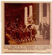 Orig. Knipsel Coupure Tijdschrift - Brussel Terkamerenbos - Onthulling Standbeeld Burgemeesters Buls & De Mot - 1928 - Zonder Classificatie