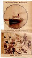 Orig. Knipsel Coupure Tijdschrift - Oostende - Nieuwe Mailboot Isle Of Thonet - 1928 - Unclassified