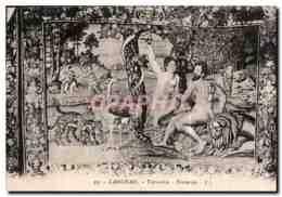 CPA Langeais Tapisserie Tentation Adam Et Eve - Langeais
