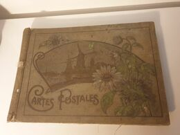 Album Ancien Pour Cartes Postales. Etat Moyen . Dim. 37X26CM épaisseur 3cm - Books