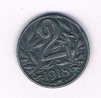 2 HELLER 1918  OOSTENRIJK /6881/ - Austria