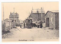 CPM TRAIN VOIR DOS 62 PARIS PLAGE Le Touquet Au Début Du ( XX ème) Siècle Le Tram La Gare Du Tramway - Le Touquet