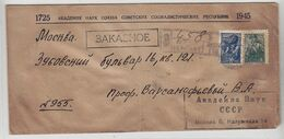 Russland1945  R-Brief Mit MIF - 1917-1923 Republic & Soviet Republic
