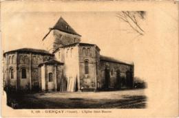 CPA Gencay - L'Eglise Saint-Maurice (111627) - Gencay