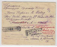 Russland R-Brief Mit 6er Block Frankatur Nach Höchst+weiter Nach Marburg - 1917-1923 Republic & Soviet Republic