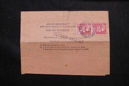 FRANCE - Avis De Réception D'un Chargé Ou Recommandé De Paris En 1948 - L 71564 - Marcophilie (Lettres)