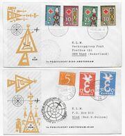 1958 - ENVELOPPES 1° LIAISON AERIENNE Par KLM De DEN HAAG (NEDERLAND) => BIAK (NIEUW GUINEA) ALLER Et RETOUR - Nouvelle Guinée Néerlandaise
