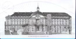 België-Belgique-2020-Gravure-Le Palais Des Princes Evêques-Liège-dessin De Guillaume Broux-Feuillet Noir/Blanc - Zwarte/witte Blaadjes