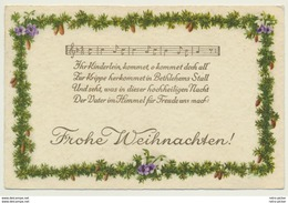 AK  Weihnachten Liederkarte 1928 - Christmas