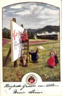 Pfingsten, Zwerge, Ostmark - Bund Deutscher Österreicher, Pfingstkarte Nr. 82, 1913 - Pentecôte