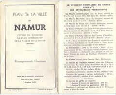 Kaart Carte - Plan De La Ville De Namur - Roadmaps
