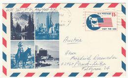 US Air Post Postal Card UXC5 Postal Stationery Posted 1966 To Austria B200901 - Interi Postali