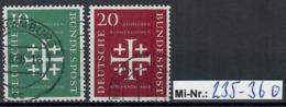 Bundesrepublik Mi-Nr.:  235-36 Evangelischer Kirchentag 1956 Sauber Gestempelter Satz - Used Stamps