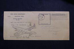 ETATS UNIS - Enveloppe De La Poste De Dayton En Franchise En 1938 Pour Chicago Par Avion - L 71578 - Briefe U. Dokumente