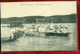 7437 - GRIGNY - UNE PASSE DE JOUTE - Grigny