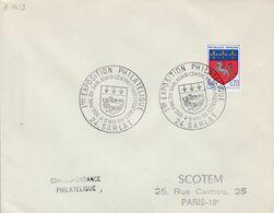 EXPOSITION PHILATELIQUE DU SARLADAIS à SARLAT DORDOGNE 1968 - Poststempel (Briefe)