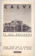 Brochure Toerisme Tourisme - Calvi Corse & Ses Environs - 1935 - Toeristische Brochures