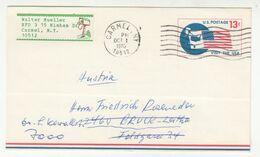 US Postal Stationery Postal Card Posted 1970 Carmel, NY Pmk B200901 - Interi Postali