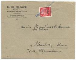 C505 - BITSCHWEILER (Kr Thann Els) - Provisoire 1940 - Entête Et. ED. EHLINGER - BITSCHWILLER - - Alsace Lorraine