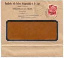 C512 - BITSCHWEILER (KR THANN ELS) - 1940 - Entête Fonderies Mécaniques De La THUR - BITSCHWILLER - - Alsace Lorraine