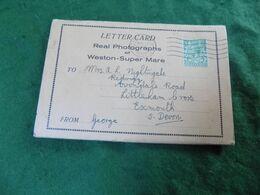 VINTAGE UK SOMERSET: WESTON Super MARE Letter Card Sepia 1932 - Weston-Super-Mare