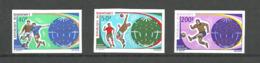 DAHOMEY  Football Soccer World Cup 1970  3v. Imperf.  Rare! - 1970 – Mexique