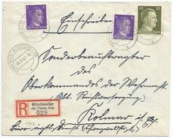 C523 - TANN (ELS) BITSCHWEILER - 1942 - Recommandé - BITSCHWILLER - - Alsace Lorraine