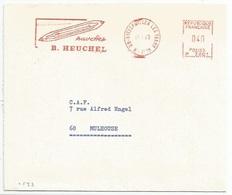 C533 - BITSCHWILLER LES THANN - 1969 - Entête Illustrée NAVETTES B. HEUCHEL - - Alsace Lorraine