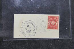 FRANCE - Oblitération Du Porte Avion Arromanches  En 1958 Sur Fragment - L 71595 - Seepost