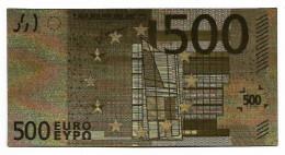 BILLET - 500 EURO EN OR FIN CARAT - EURO