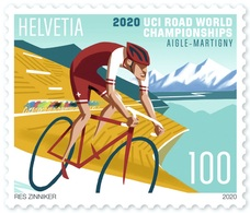 Schweiz Suisse 2020:  UCI ROAD WORLC CHAMPIONSHIP AIGLE - MARTIGNY ** MNH - Ciclismo