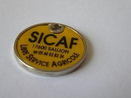 JETON CADDIE CADDY METAL  - 12e FOULÉE SAUJONNAISE - SAUJON 17600 - SICAF - LIBRE SERVICE AGRICOLE - NEUF ! - Trolley Token/Shopping Trolley Chip
