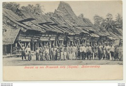 AK  Gezicht Op Een Niassisch Dorp Sigata Batoe Zending 1908 - Indonesien