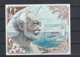 "Tonga Michel Cat.No. Mnh/** Niuafoóu Sheet 12 ""specimen"" - Tonga (1970-...)"