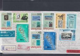 Vanuatu Michel Cat.No. Cover Reco Express - Vanuatu (1980-...)