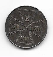 Occupation Allemande En Russie  - 1916 J   - 2 Kopek - [ 2] 1871-1918: Deutsches Kaiserreich