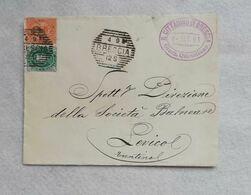 """Busta Di Lettera Da """"Il Cittadino Di Brescia"""" Giornale Quotidiano Per Levico 1891 - 1878-00 Humbert I."""