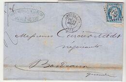 Charente LAC Artaud Rousselot & Lebreton, Toiles, N°60 O. GC + T17 Angoulème 1875 (2 Scans) - 1849-1876: Classic Period