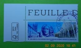 FRANCE 2020   800 ANS FACULTE MEDECINE MONTPELLIER    Timbre Neuf    Cachet   ROND  COIN DE FEUILLE - Oblitérés